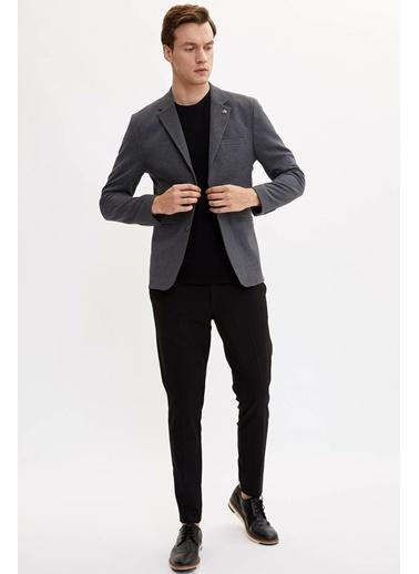 DeFacto Slim Fit Blazer Ceket Antrasit